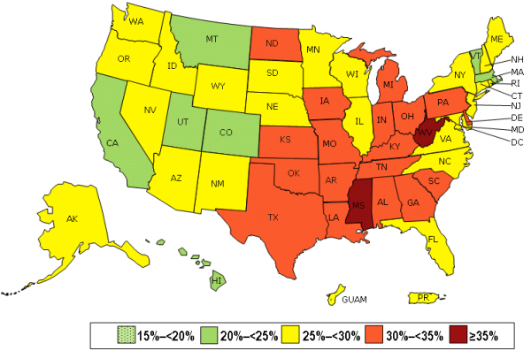 The CDC Releases State-by-State Obesity Data; Six States Show ...