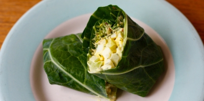 low carb collard wrap